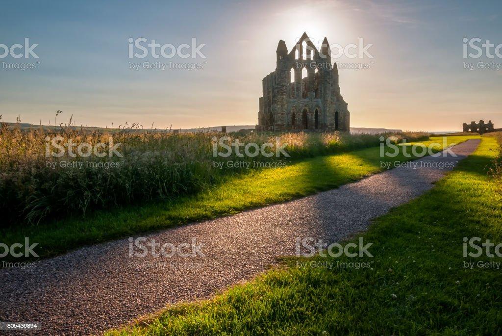 Whitby Abbey stock photo