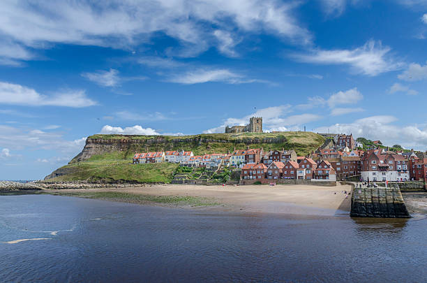 Whitby Harbour stock photo