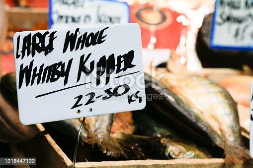 Whitby Kipper in  Market, London