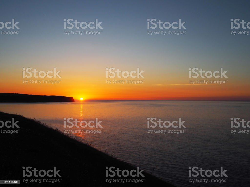 Whitby Sunset stock photo