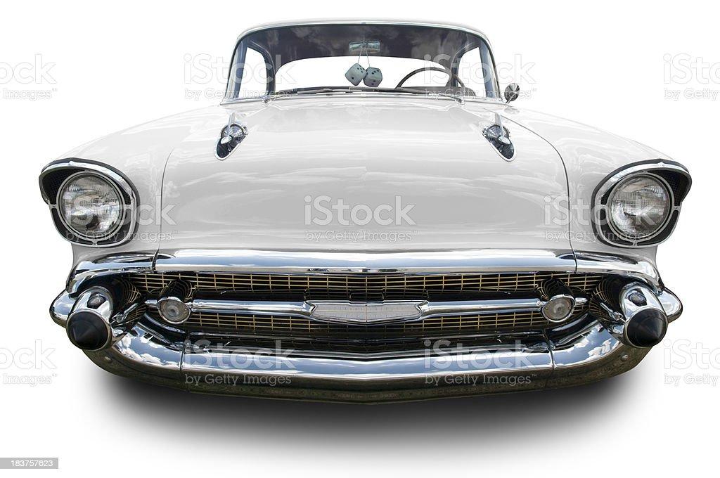White 1957 Chevrolet Bel Air stock photo