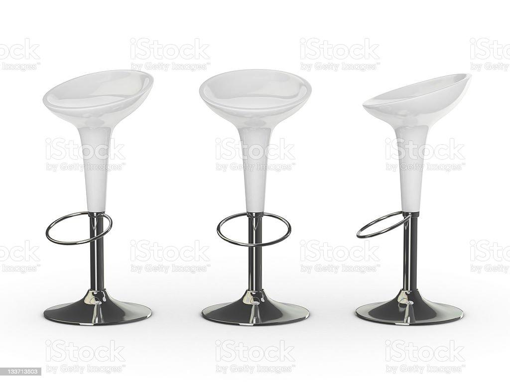 white 3d bar chair stock photo