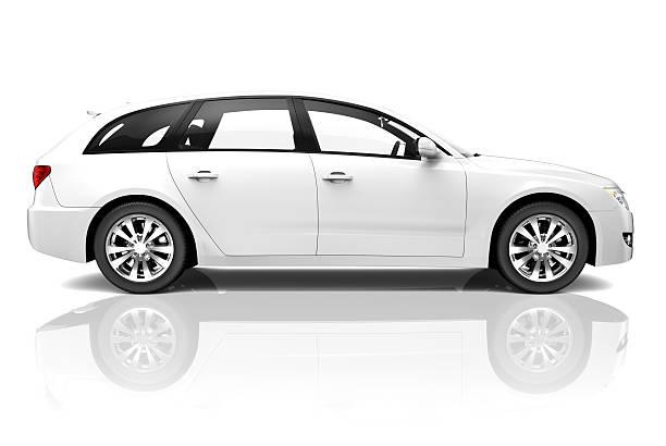 Blanc 3D voiture SUV de luxe - Photo