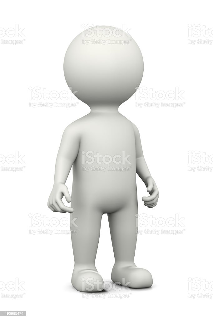 White 3D Character stock photo