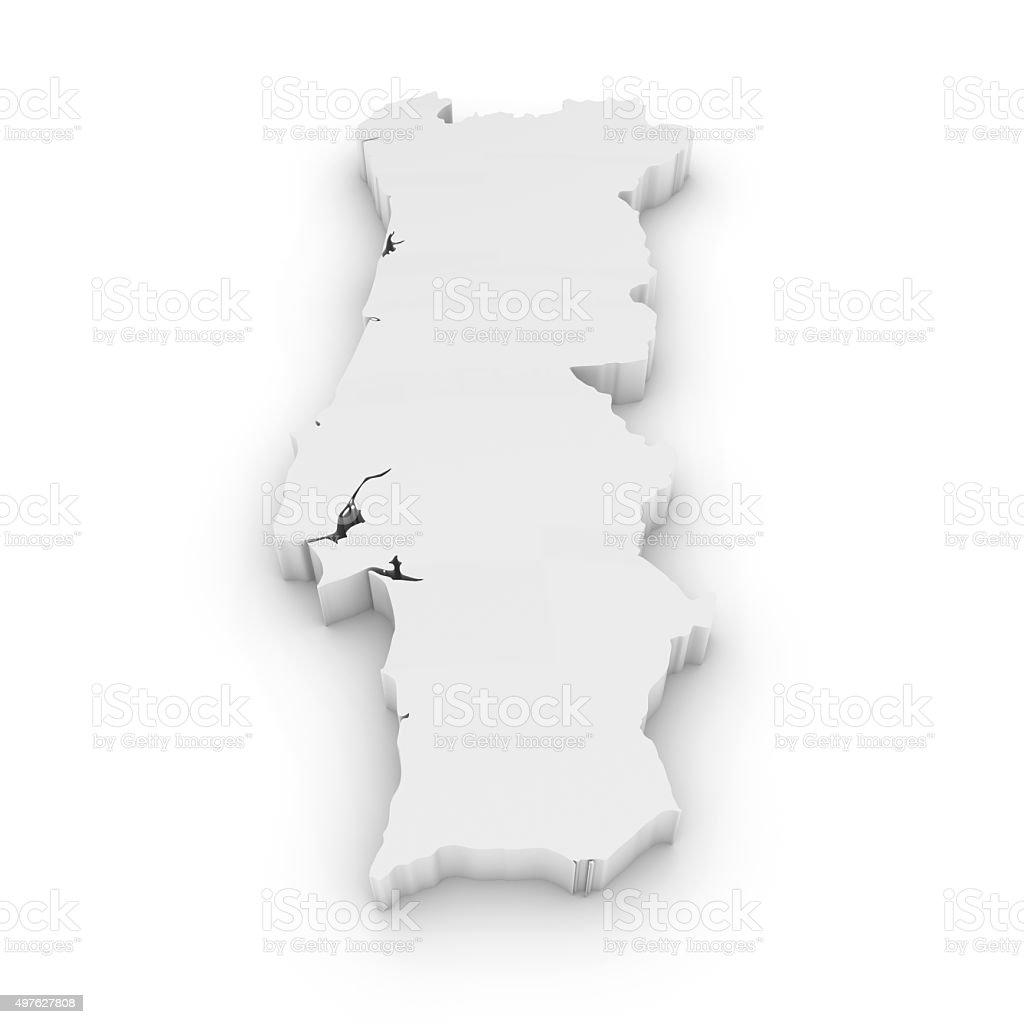 mapa de portugal branco Mapa De Portugal   Stock Photos e Imagens   iStock mapa de portugal branco
