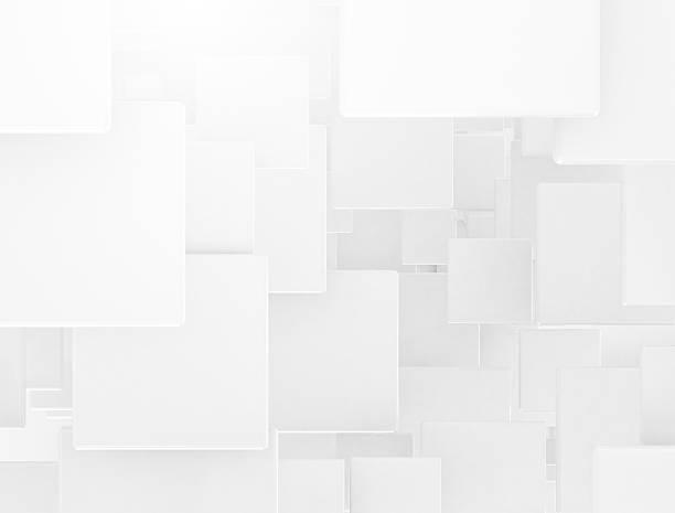 白い背景の 3 D 広場 ストックフォト