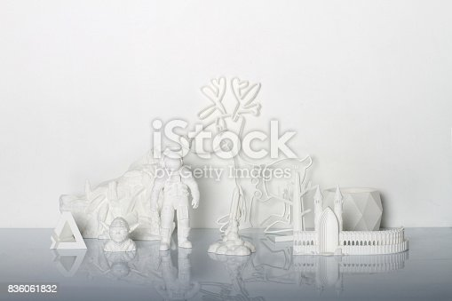 istock White 3Dprinted objects 836061832