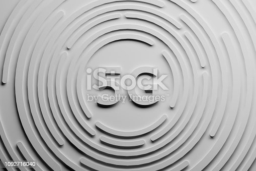 istock White 5G letters with circles 1092716040