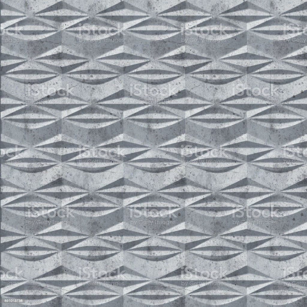 White abstract concrete surface pattern. 3d rendering stock photo