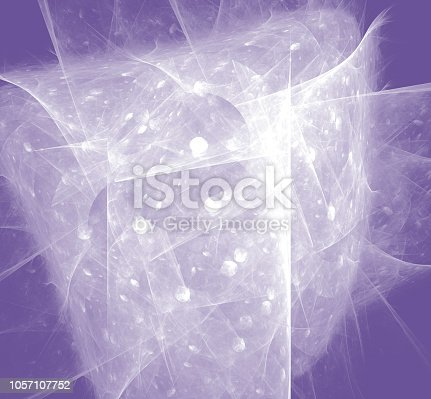 istock White abstract fractal on ultraviolet background. Fantasy fractal texture. Digital art. 3D rendering. Computer generated image. 1057107752