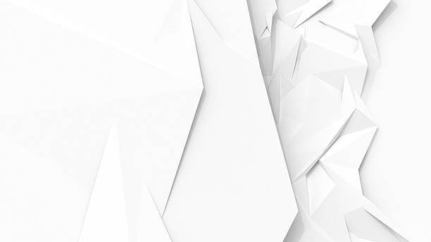 white abstract geometric background with sharp polygon surface - sharp stock photos and pictures