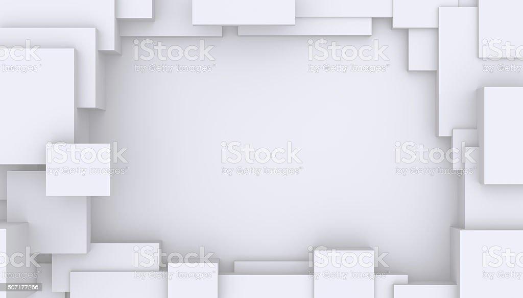Geometría de fondo abstracto blanco. - foto de stock