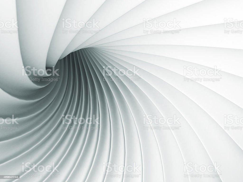 Weißes abstrakte Welle Spirale, geometrische Hintergrund  – Foto