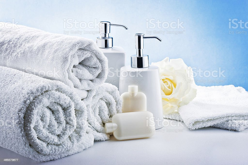 white accessories bathroom hygiene royalty-free stock photo
