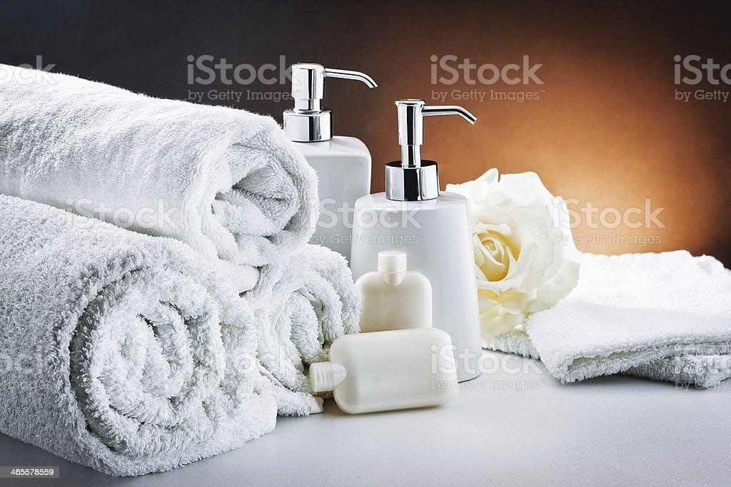 white accessories bathroom hygiene royalty-free stock photo