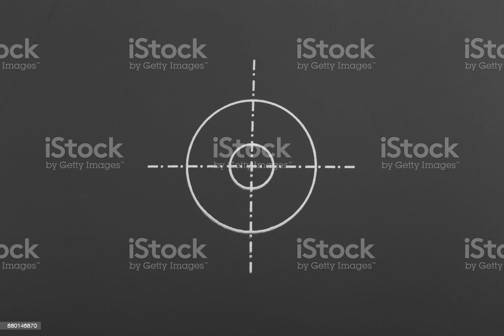 White Aim Target stock photo