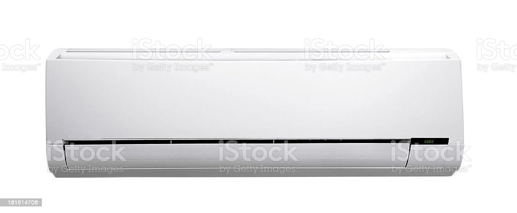 white air conditioner royalty-free stock photo