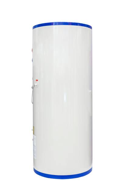 weiße quelle wärmepumpe wasser lufterhitzer isoliert auf einem weißen hintergrund. einschließlich der clipping-pfad - heißes wasser stock-fotos und bilder