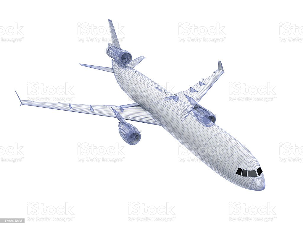 white Airliner royalty-free stock photo