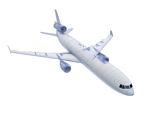 white Airliner stock photo