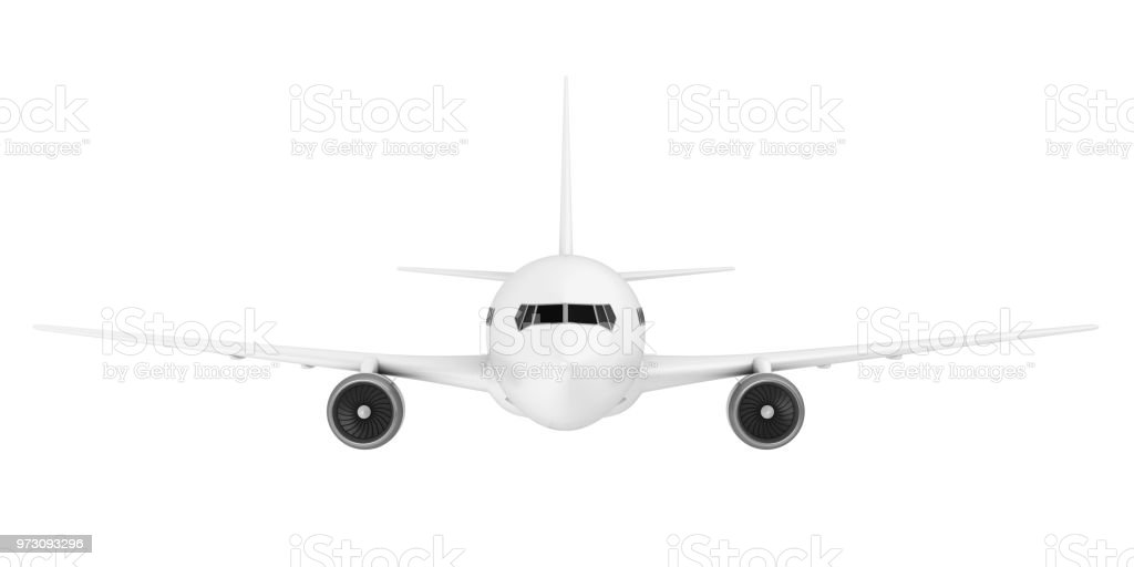 White Airplane Isolated stock photo
