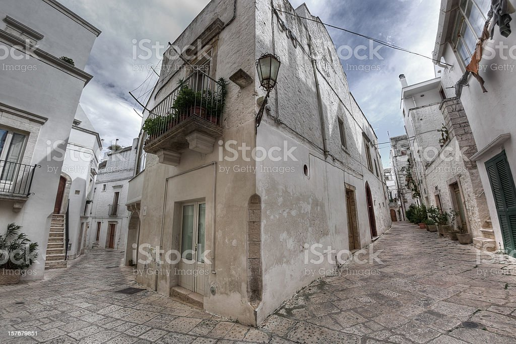 White Alley, Southern Italy Village in Apulia royalty-free stock photo