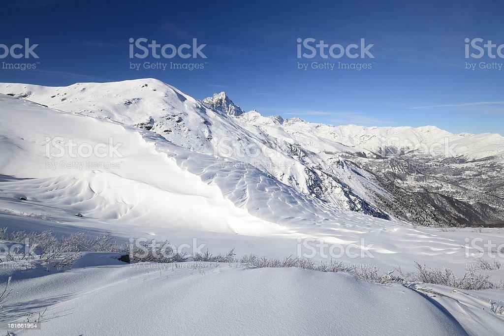 White alpine landscape royalty-free stock photo