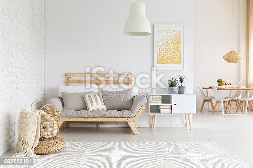 istock White and beige in living room 698758184