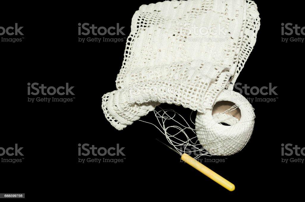 Noir blanc crochet vers le haut
