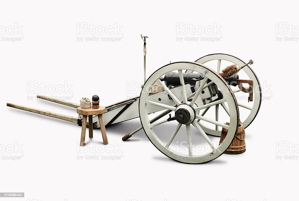 White and black cannon stock photo
