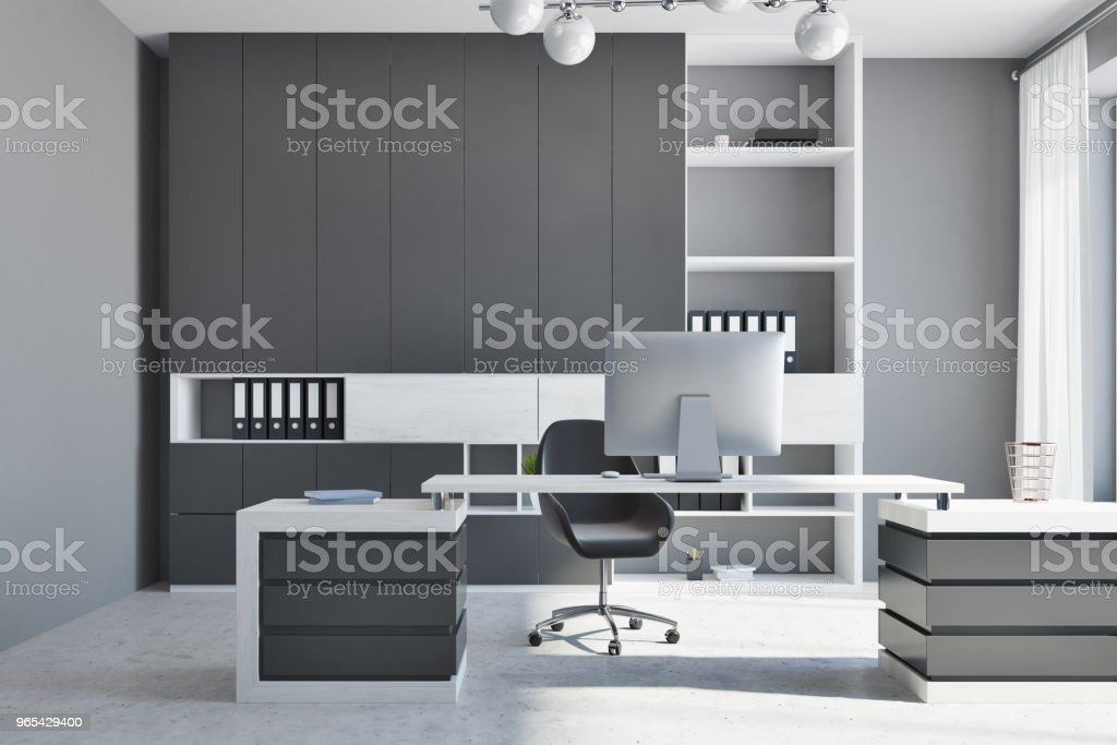 White and black company manager office zbiór zdjęć royalty-free