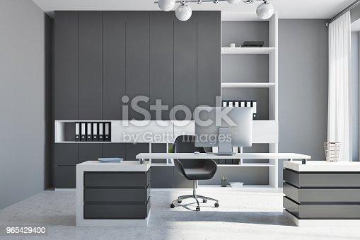 White And Black Company Manager Office - Stockowe zdjęcia i więcej obrazów Architektura