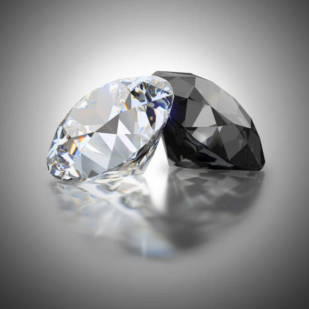 Cтоковое фото white and black diamond
