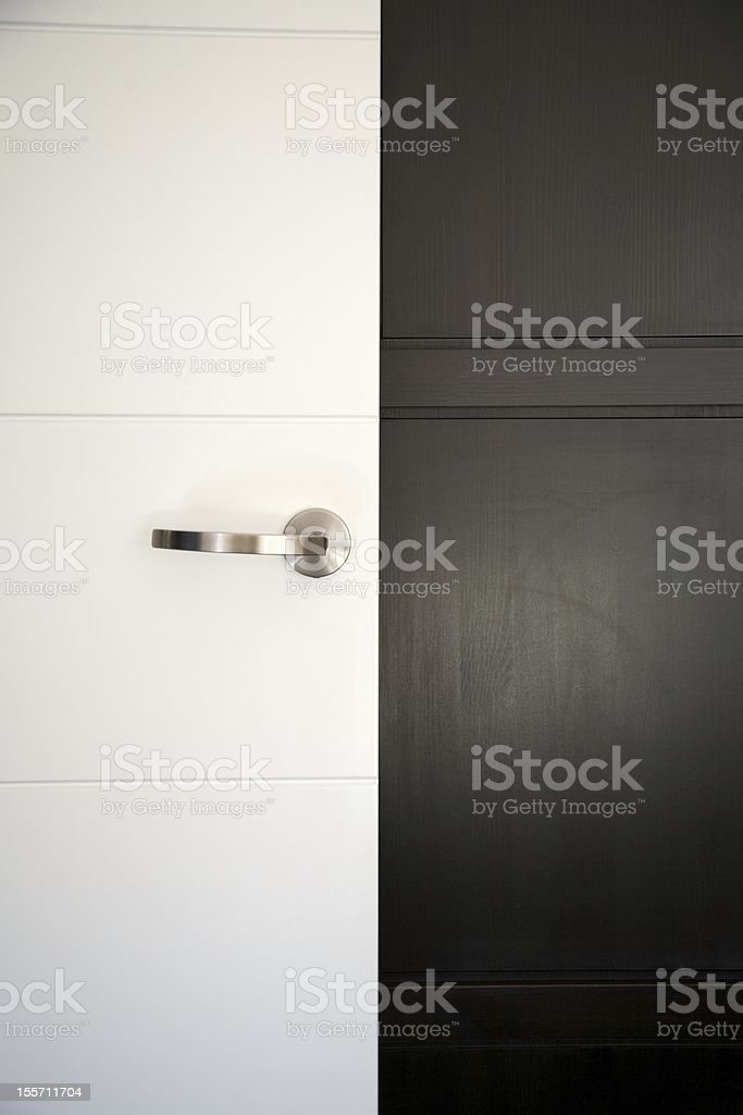white and black doors royalty-free stock photo