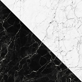 White and black marble texture with natural pattern for background.