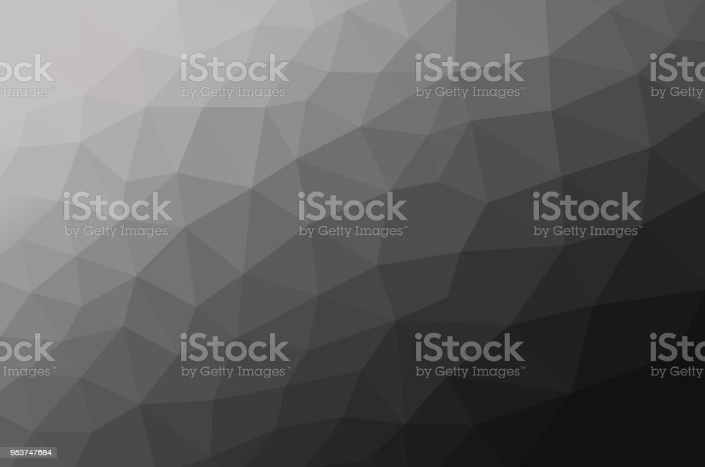 White and black of low poly background stock photo