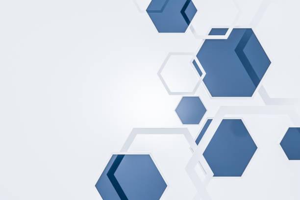背景白色和藍色六邊形 - 蜂巢式樣 個照片及圖片檔
