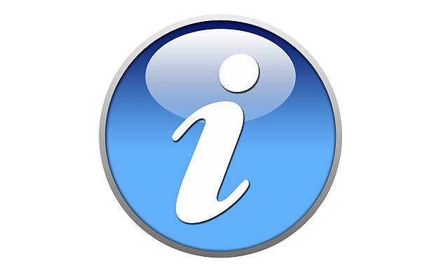 White and Blue information button - Stock Image stock photo
