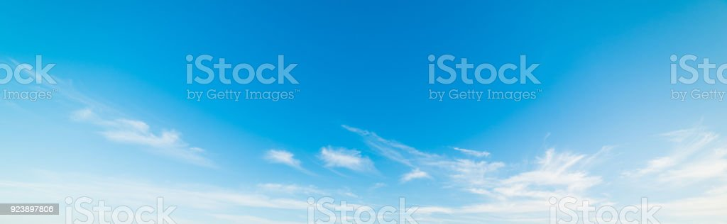 white and blue sky in Malibu royalty-free stock photo