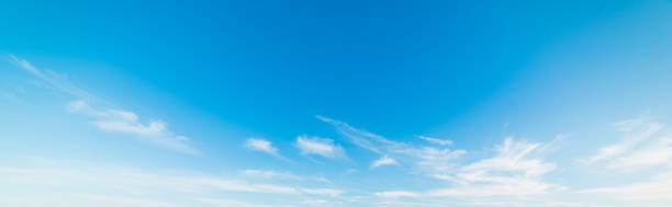 white and blue sky in Malibu stock photo