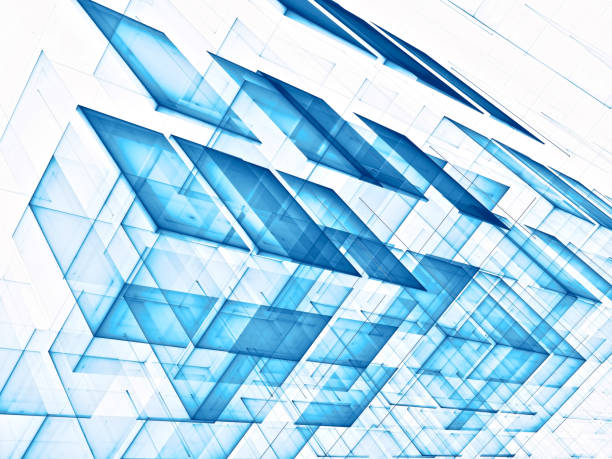White and blue technology style background stock photo