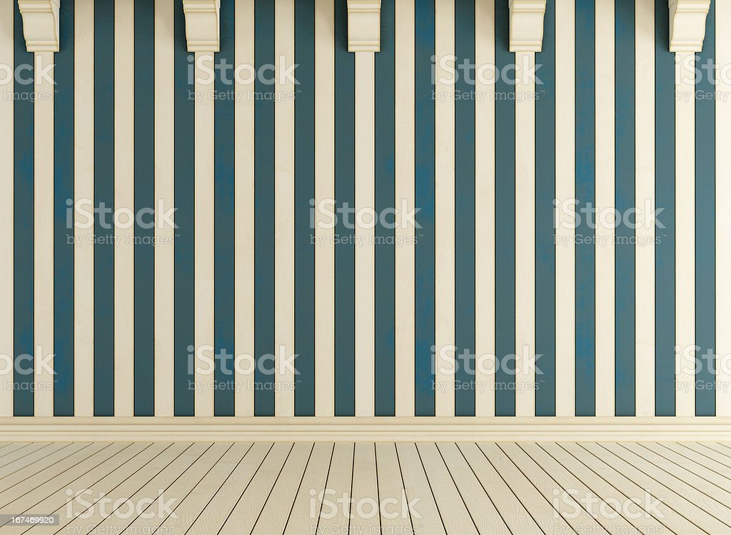 White and blue wooden room royalty-free stock photo