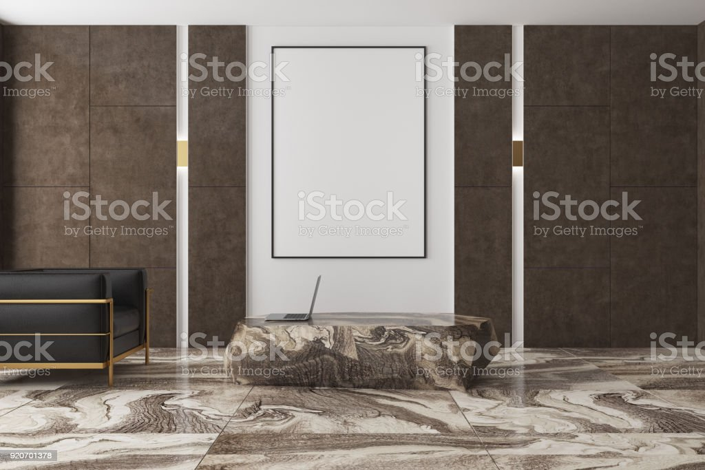 White And Brown Living Room Marble Floor Poster Stock Photo Download Image Now Istock