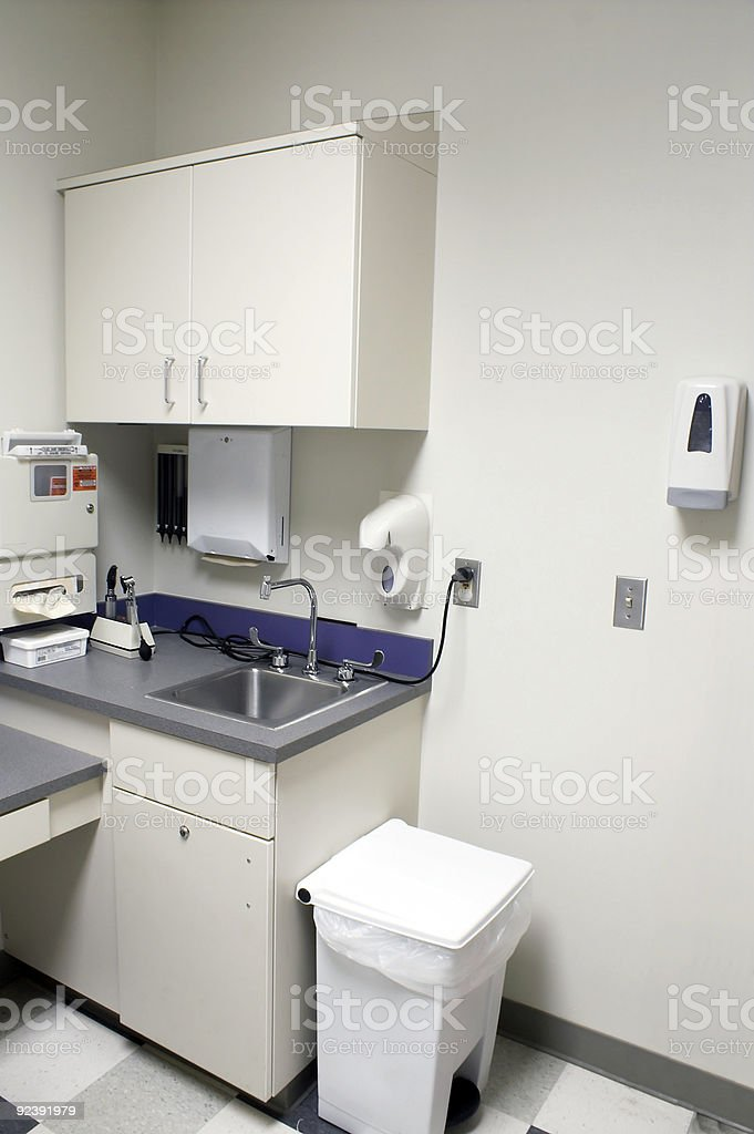 White and Clean Medical clinic room stock photo