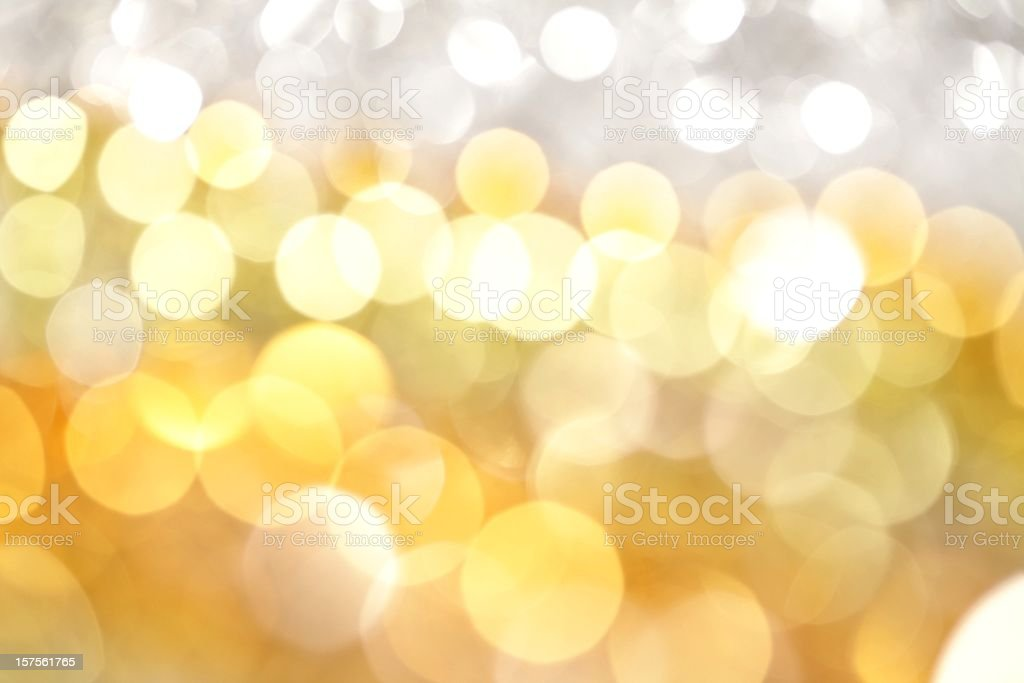 White and Gold Lights Background - Royalty-free Abstract Stock Photo