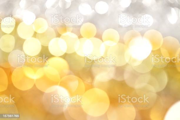White And Gold Lights Background Stock Photo - Download Image Now