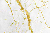 istock White and gold marble texture pattern background with high resolution design for cover book or brochure, poster, wallpaper background or realistic business 1143041403