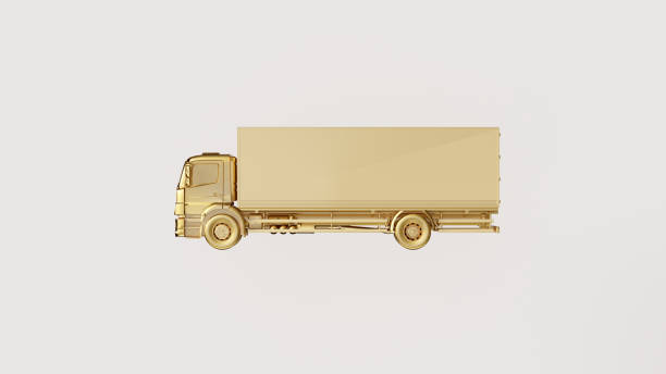 White and Gold Truck stock photo