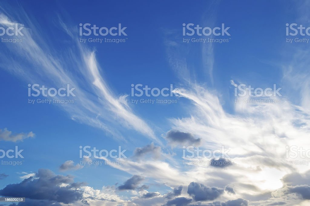 white and gray clouds royalty-free stock photo