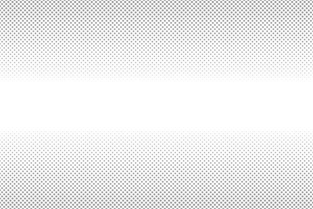 vit och grå halvtonsbakgrund. abstrakt prickad bakgrund. tona grå prick från stor till liten punkt. - spetsig vinkel bildbanksfoton och bilder